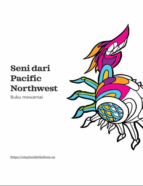 Seni dari buku mewarnai Pacific Northwest