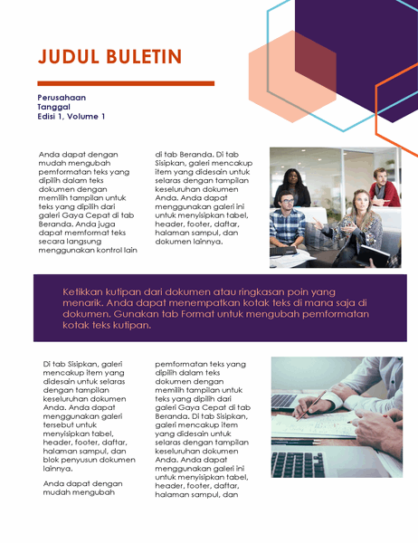Buletin (desain Eksekutif, 2 halaman)