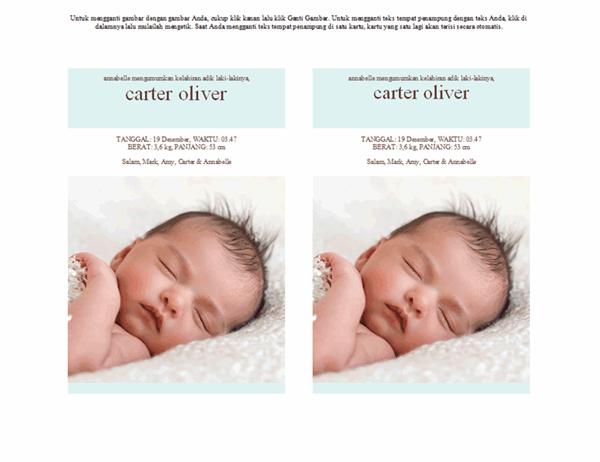 Pengumuman Kelahiran Bayi Laki-laki