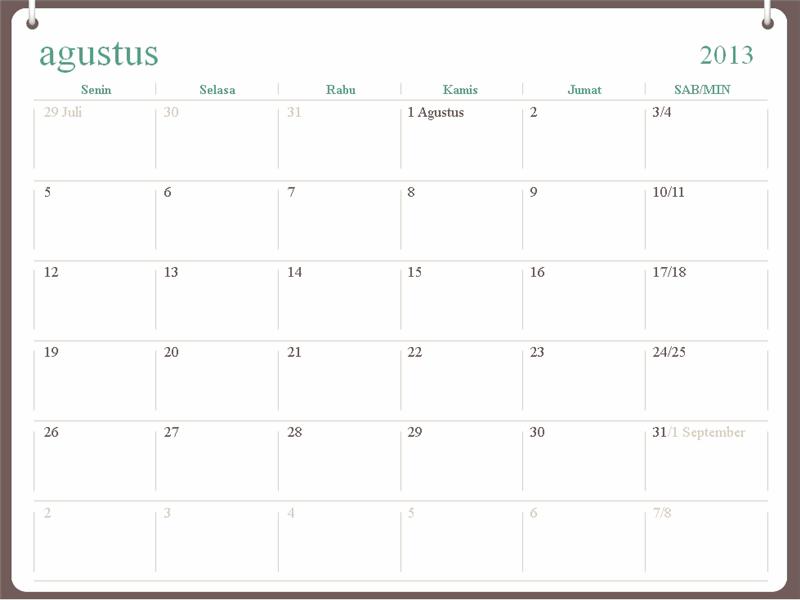 Kalender akademis 2013-2014 (Juli)