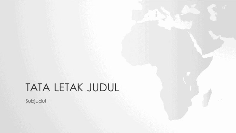 Seri peta dunia, presentasi benua Afrika (layar lebar)