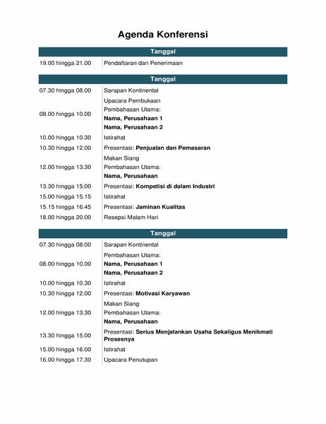 Agenda acara konferensi