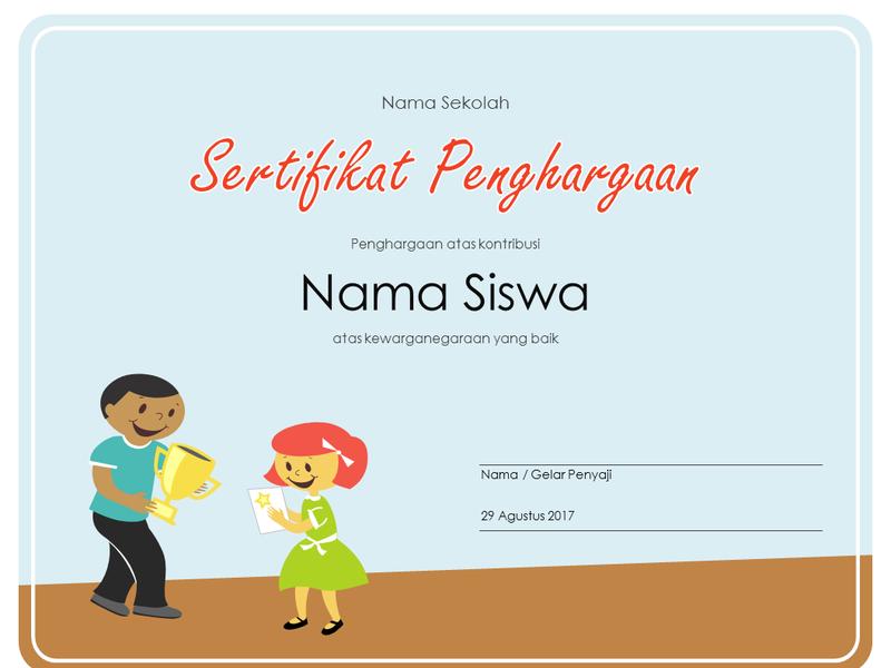 Sertifikat Penghargaan (Siswa SD)