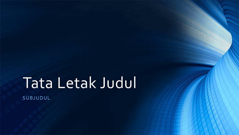 Presentasi terowongan biru digital untuk bisnis (layar lebar)