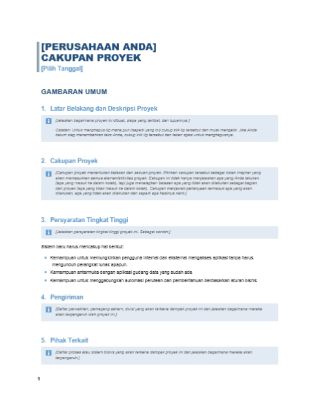 Lingkup Proyek