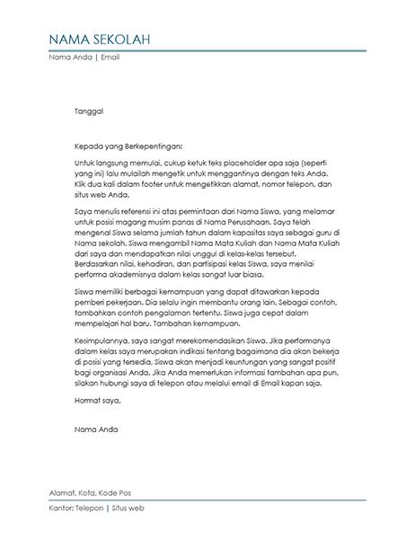 Surat Referensi dari Guru