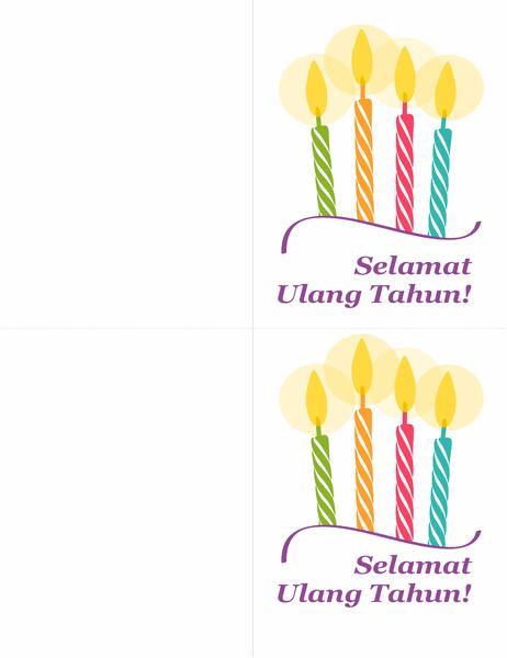 Kartu ulang tahun (2 per halaman)
