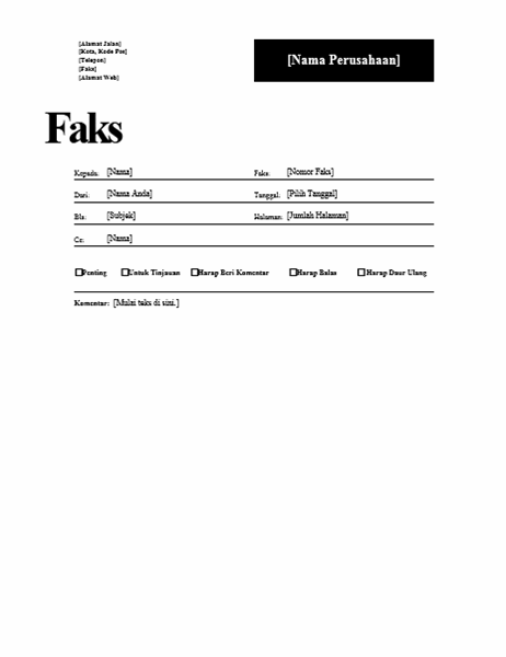 Sampul Faks