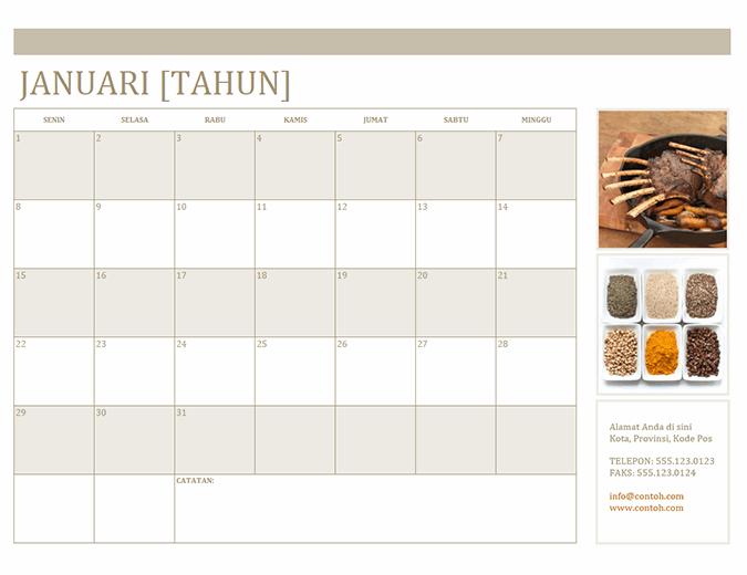 Kalender foto (Sen)