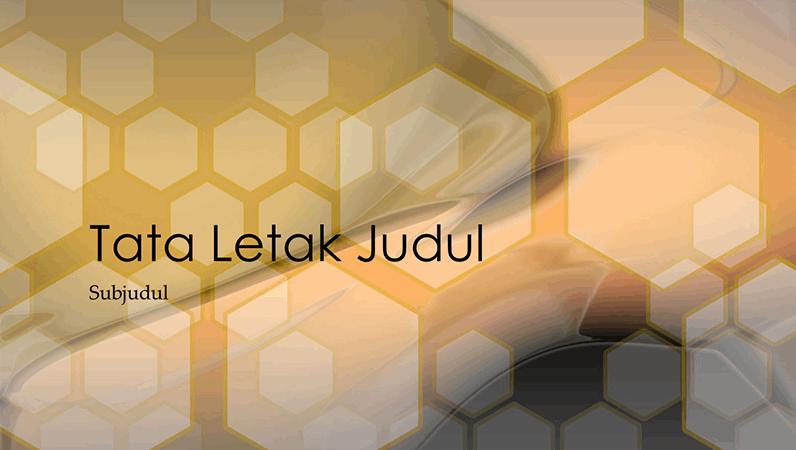 Slide desain heksagonal