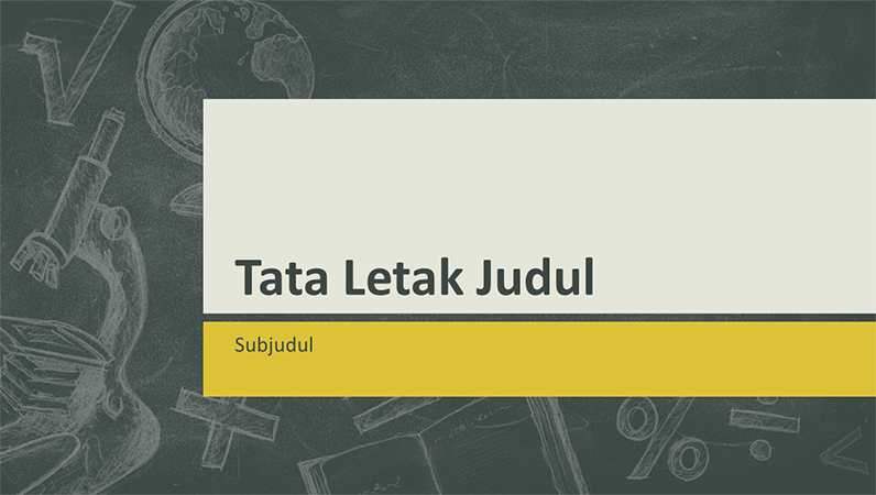 Presentasi subjek pendidikan, desain ilustrasi papan tulis (layar lebar)