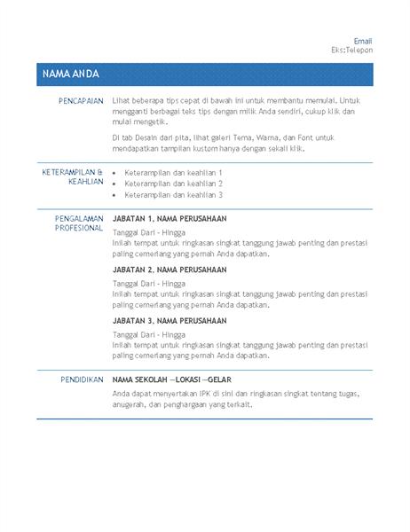 Resume untuk transfer perusahaan internal