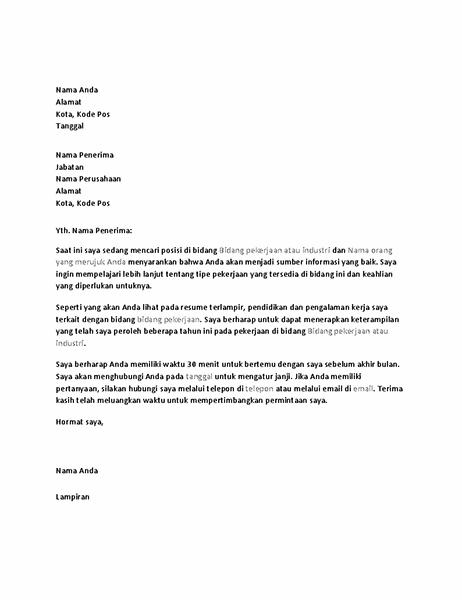Surat permintaan wawancara informasi