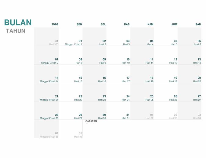 Kalender Julian (semua tahun)