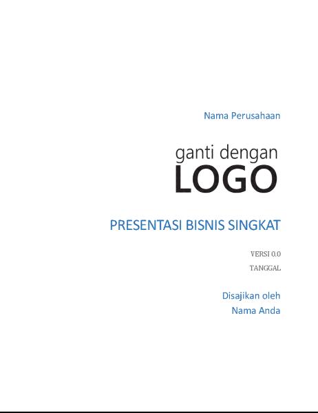 Presentasi bisnis singkat