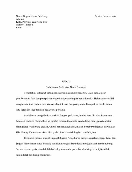 Format naskah cerita