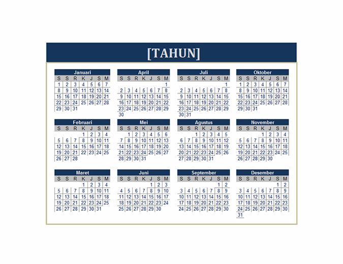 Kalender (semua tahun)