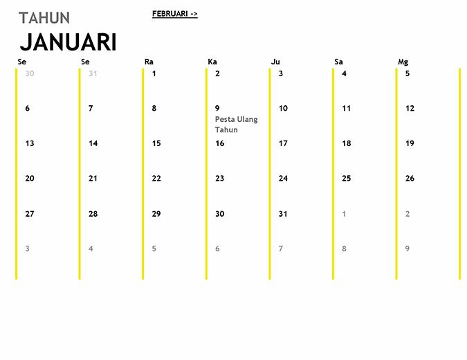 Kalender 12 Bulan