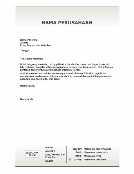 Kertas surat kop surat bisnis (Desain sederhana)