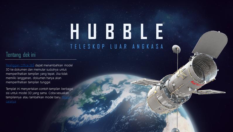 Presentasi PowerPoint 3D (Model Teleskop Hubble)