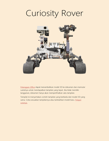 Laporan sains Word 3D (model Mars Rover)