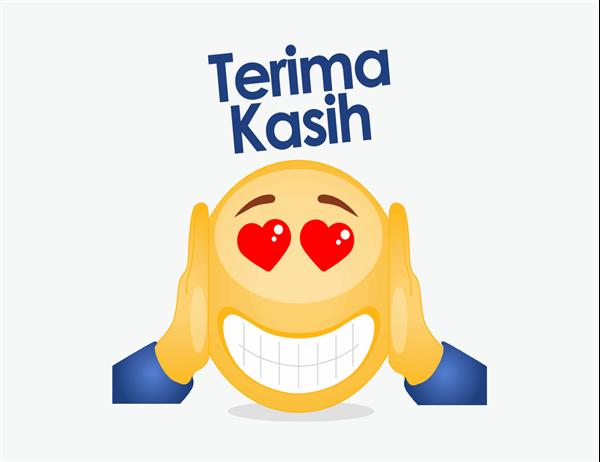 Kartu ucapan terima kasih dengan emoji