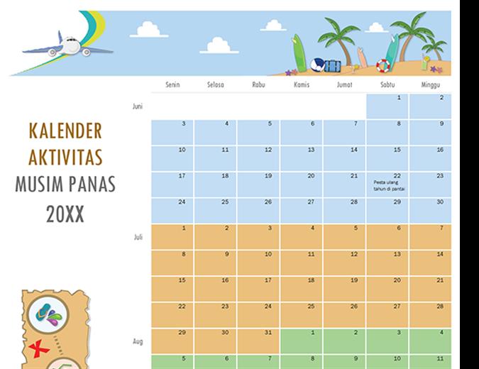 Kalender aktivitas musim panas