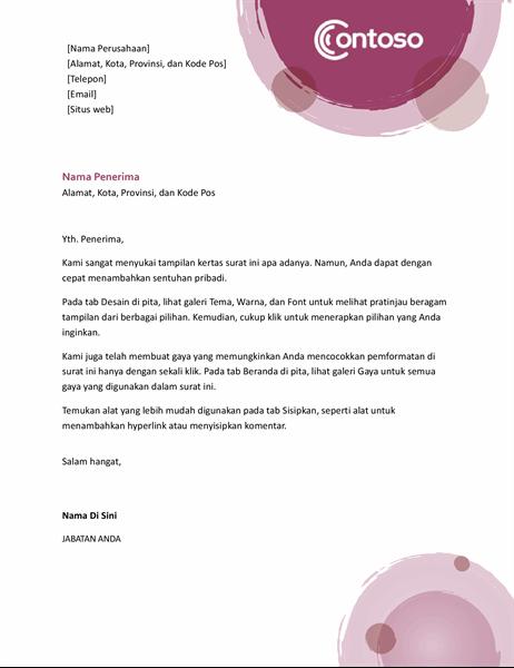 Kop surat rangkaian ungu