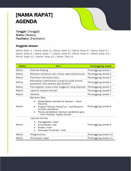 Agenda rapat pendidikan