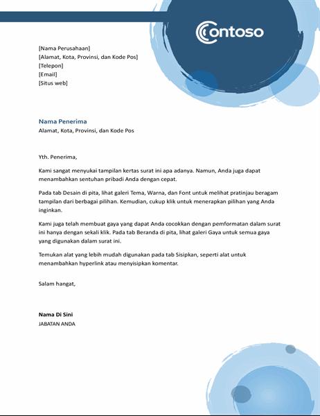 Kop surat lingkaran biru