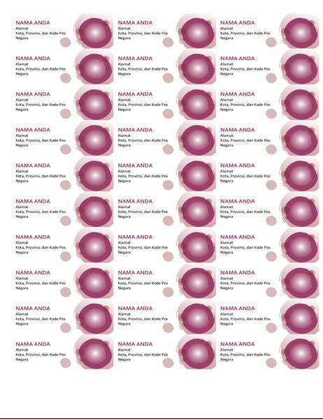 Label rangkaian ungu (30 per halaman)
