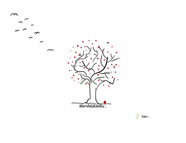 Kartu simpati bergambar pohon