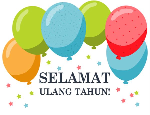 Kartu ucapan ulang tahun balon