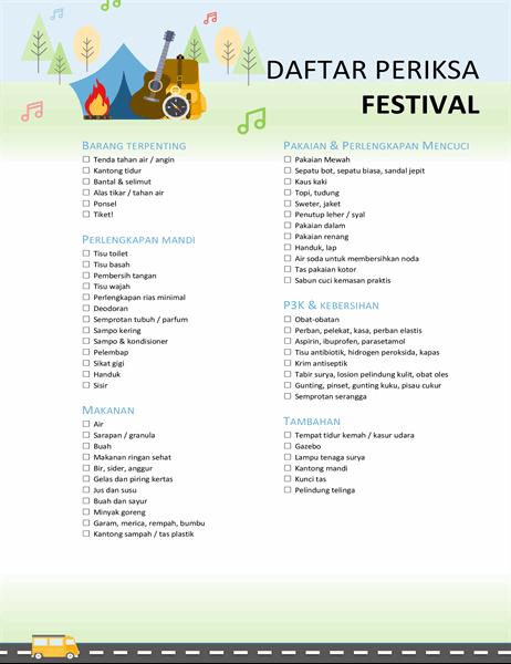 Daftar Periksa festival