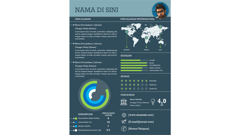 Riwayat hidup infografis internasional