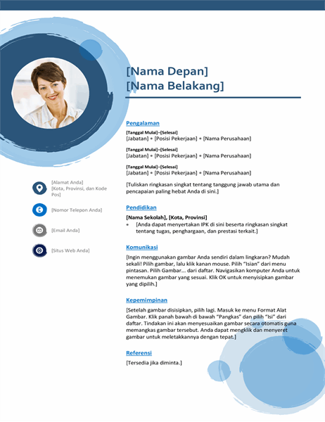 Resume lingkaran biru