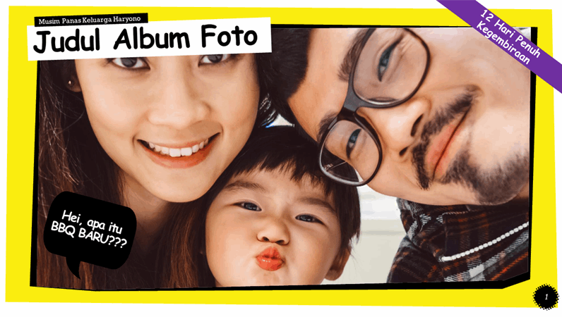 Album foto strip komik
