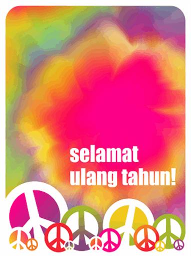 Kartu ulang tahun (pola warna-warni)