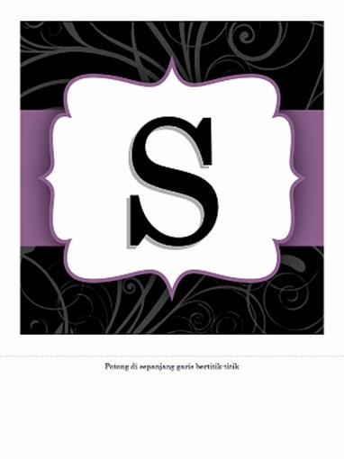 Spanduk Hari Jadi (Pita ungu desain)