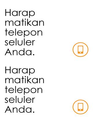 Pengingat untuk mematikan ponsel