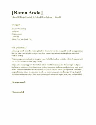 Surat lamaran kerja resume (hijau)