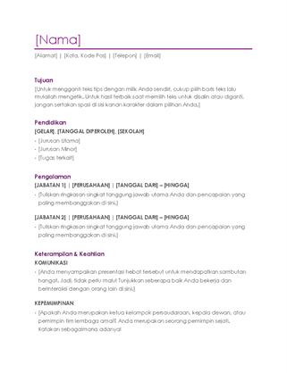 Resume (ungu)