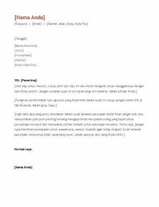 Surat lamaran dan resume (kronologis)