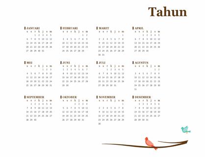 Kalender burung tahunan (Sen-Min)