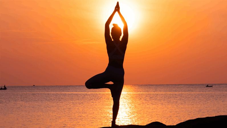 Poster sullo yoga