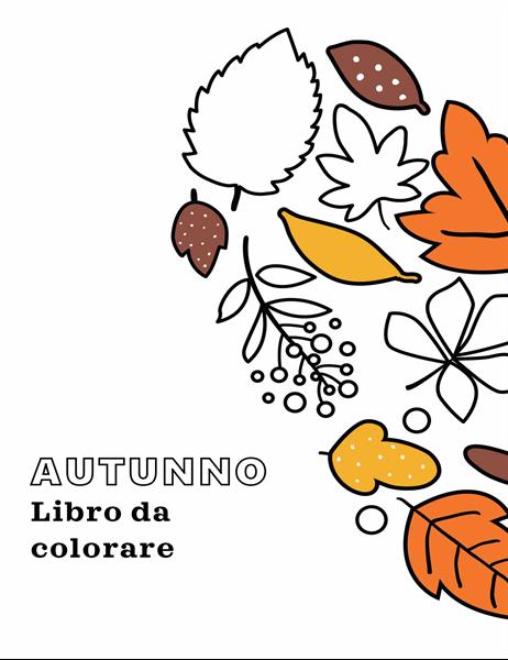 Libro da colorare a tema autunnale