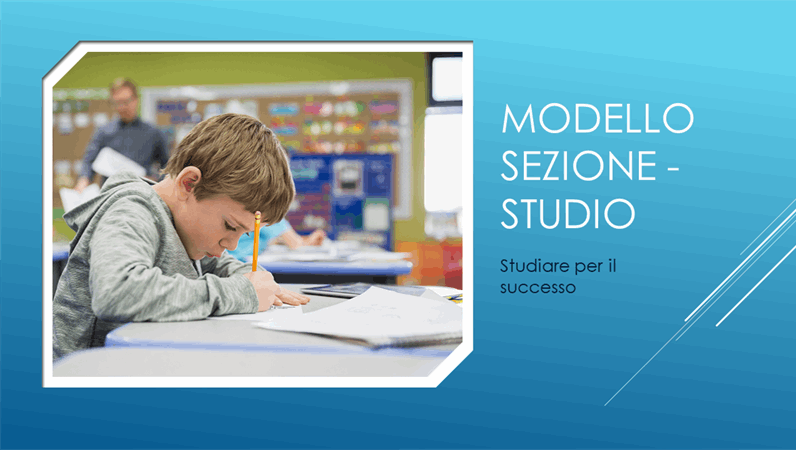 Modello Sezione - Studio