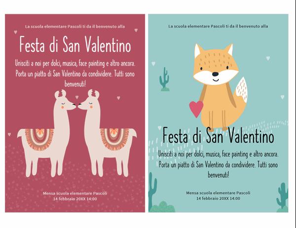Volantino per il giorno di San Valentino per bambini