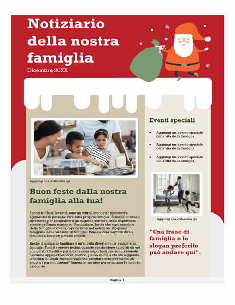 Notiziario natalizio della famiglia
