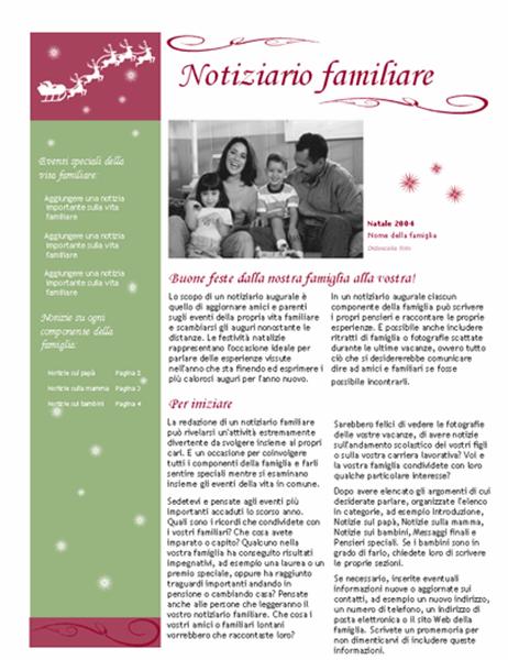 Notiziario augurale (con renna e slitta di Babbo Natale)